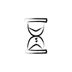 hourglass sketch style illustration