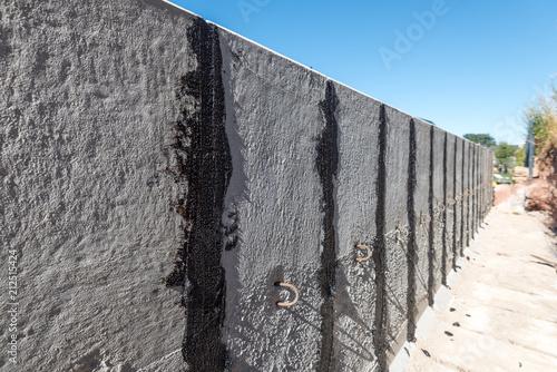 Top L-Steine, Mauerscheiben mit Fugendichtmasse