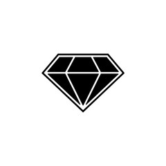 diamond icon. Element of casino icon. Premium quality graphic design icon. Signs and symbols collection icon for websites, web design, mobile app