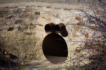 Funny drainpipe in Crimea