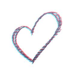 Hand drawn heart shape isolated