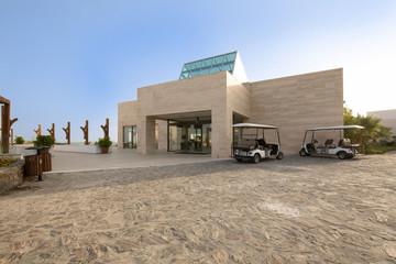 Modern new hotel building entrance