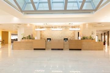 Hotel reception area, desk