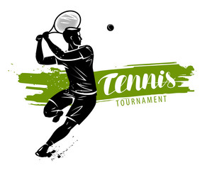 Tennis banner. Sport concept, vector illustration