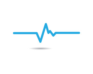 Pulse symbol illustration design