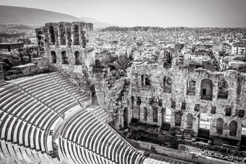 Fototapete - Odeon of Herodes Atticus at the Acropolis, Athens