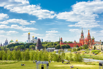 Wall Mural - Zaryadye Park overlooking the Moscow Kremlin