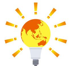 地球 電球 地球温暖化