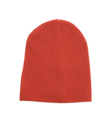 Knit cap hat isolated