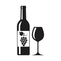 Wine icon. Vector. Isolated.