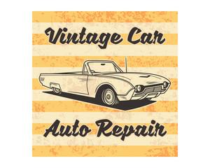 grunge vintage car auto repair classic retro image