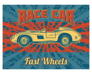 race car fast wheels classic vintage retro image