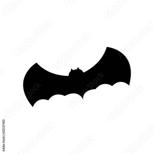 halloween bat silhouette illustration
