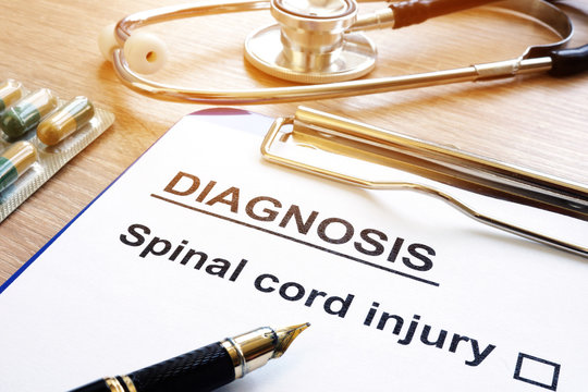 Diagnosis form with Spinal cord injury.