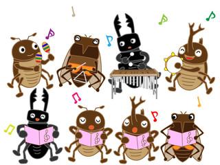昆虫たちのコンサート。