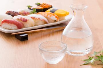 冷酒とお寿司