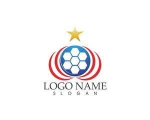 Football icon logo vector template