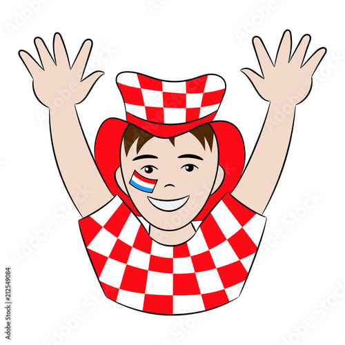 Vector fan of Croatia national football team