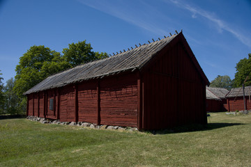 The household buildings for the Chaplain of Härkeberga from the 19th hundred, between Stockholm and Enköping