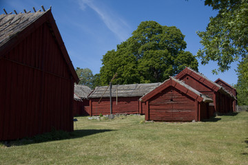 The household buildings for the Chaplain of Härkeberga from the 19th hundred, between Stockholm and Enköping