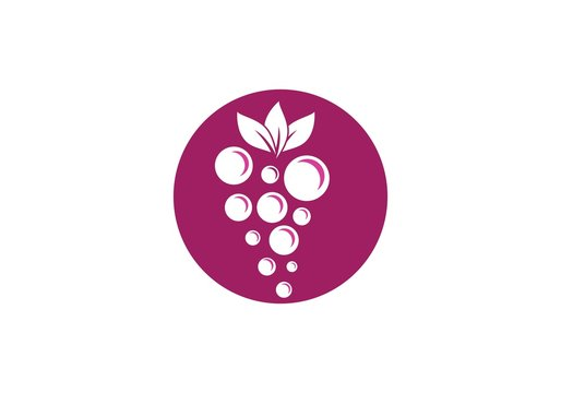 grapes with leaf icon