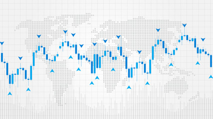 Forex Trading Indicators vector illustration. Online trading signals to buy and sell currency on the forex chart concept. Buy and sell indicators for forex trade on the chart graphic design.