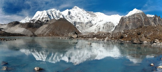 Printed roller blinds Reflection view of Cho Oyu mirroring in lake