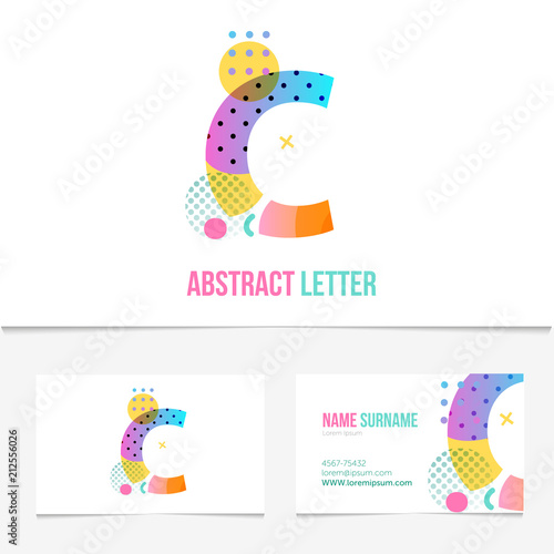 creative abstract letter c design vector template on the business