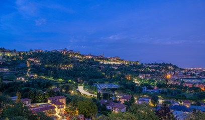 Bergamo medieval city fortified by Venetian walls