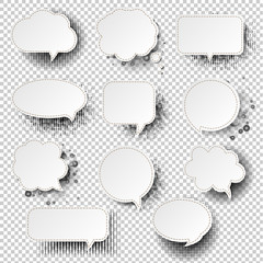Retro Speech Bubble With Transparent Background