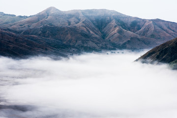 view of Mount Bromo in the cloud