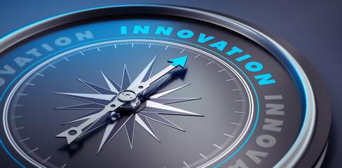 Dunkler Kompass - Konzept Innovation