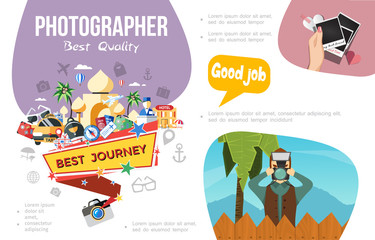 Flat Photography Infographic Concept