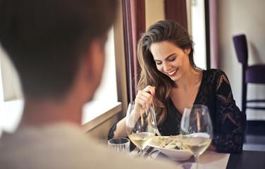 Couple having a romantic dinner