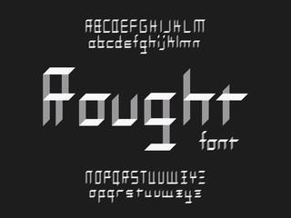 Rought font. Vector alphabet