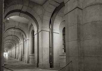 Fototapete - Classical corridor of historical architecture