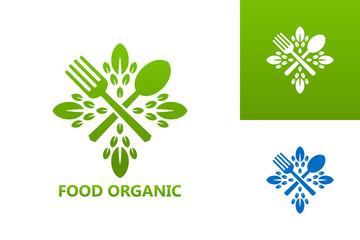 Organic Food Logo Template Design Vector, Emblem, Design Concept, Creative Symbol, Icon