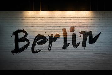 Berlin concept graffiti on wall