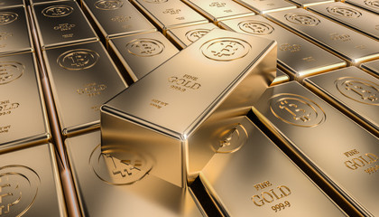 golden bitcoin ingot