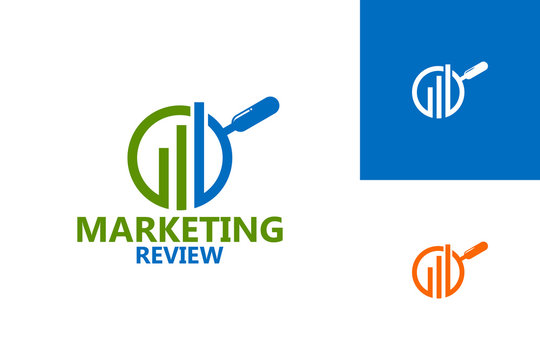 Marketing Review Logo Template Design Vector, Emblem, Design Concept, Creative Symbol, Icon