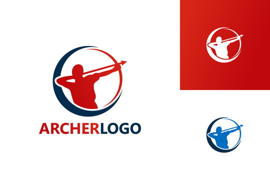 Archer Logo Template Design Vector, Emblem, Design Concept, Creative Symbol, Icon