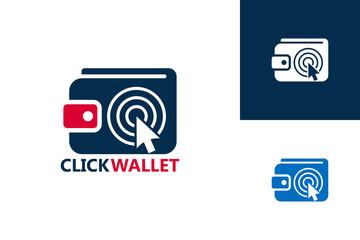 Click Wallet Logo Template Design Vector, Emblem, Design Concept, Creative Symbol, Icon