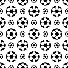 Football Icon Seamless Pattern, Soccer Ball Seamless Pattern