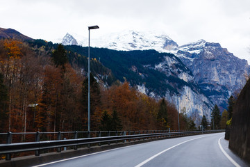 Wall Mural - Mountain road, Jungfrau region, Switzerland
