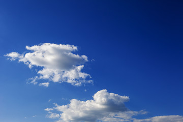 The clouds are magnificent and fluffy.