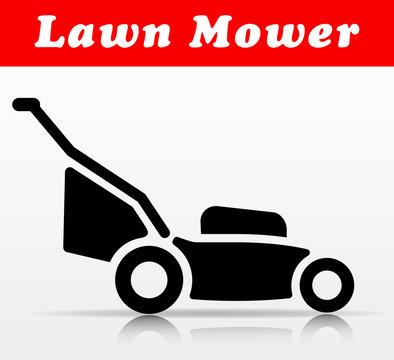 lawn mower vector icon design