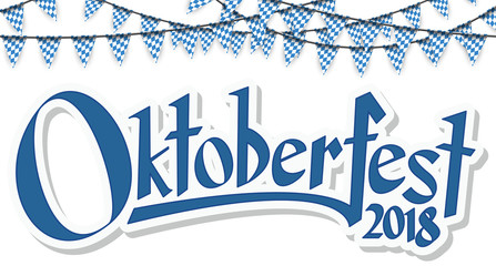 Oktoberfest 2018 garlands with confetti