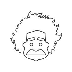 Einstein icon, Professor, scientist logo