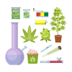 Smoking weed equipment set