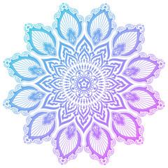 Colorful mandala vector illustration.